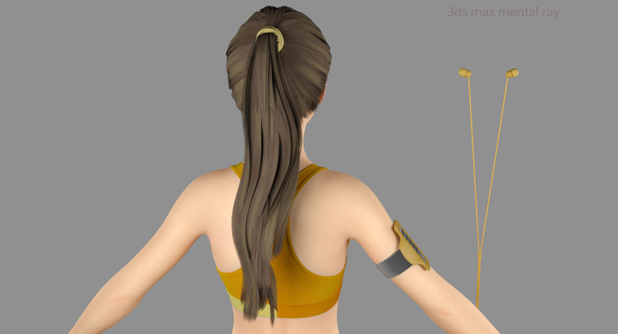 Fitness Model A2 royalty-free 3d model - Preview no. 53