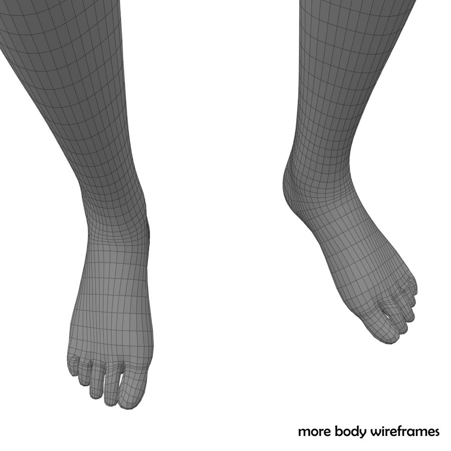 Fitness Model A2 royalty-free 3d model - Preview no. 79