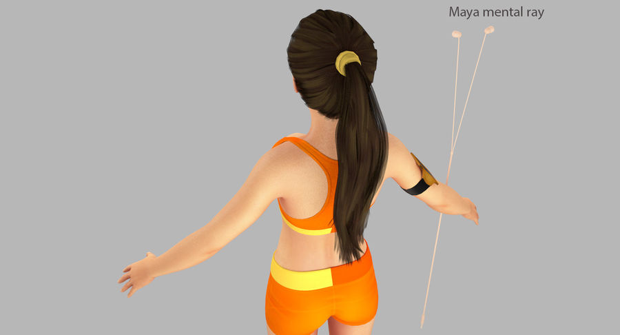 Fitness Model A2 royalty-free 3d model - Preview no. 36