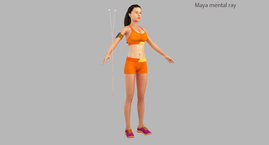 Fitness Model A2 royalty-free 3d model - Preview no. 25