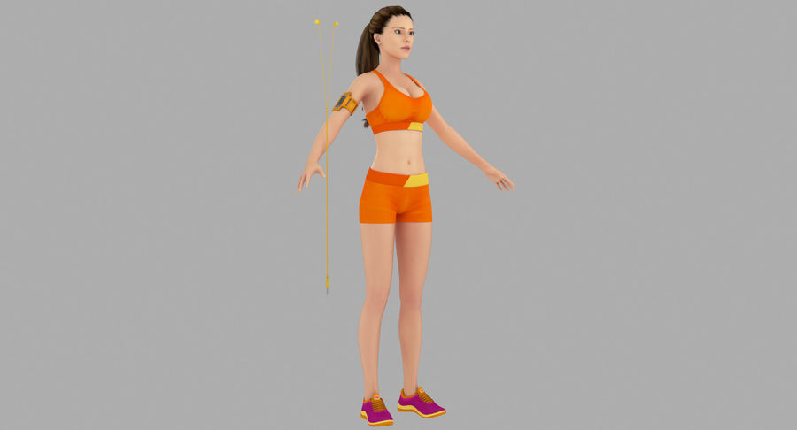 Fitness Model A2 royalty-free 3d model - Preview no. 3