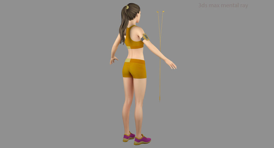 Fitness Model A2 royalty-free 3d model - Preview no. 42