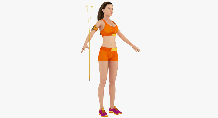 Fitness Model A2 royalty-free 3d model - Preview no. 2