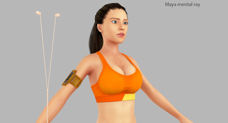 Fitness Model A2 royalty-free 3d model - Preview no. 30