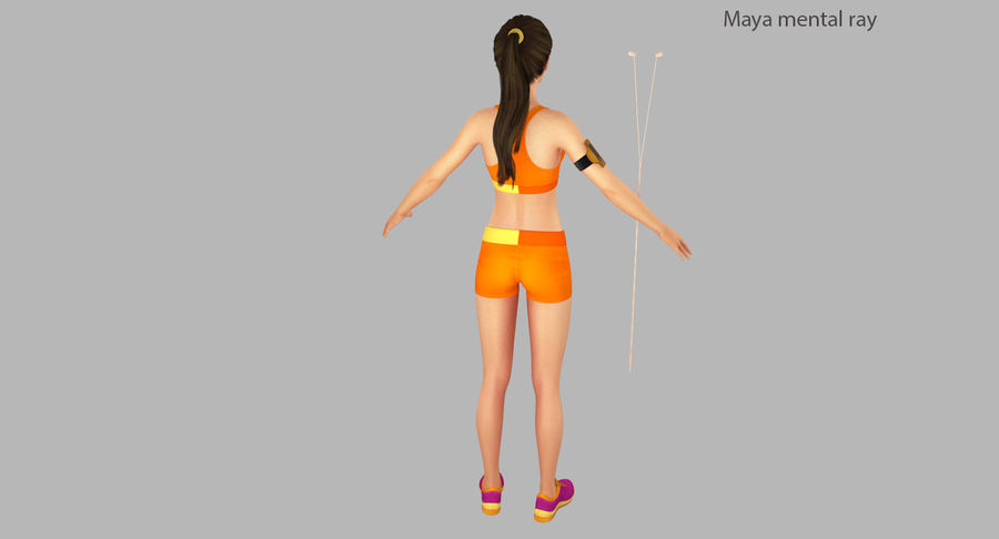 Fitness Model A2 royalty-free 3d model - Preview no. 27