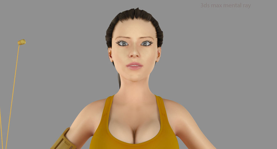 Fitness Model A2 royalty-free 3d model - Preview no. 48
