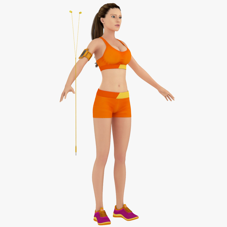 Fitness Model A2 royalty-free 3d model - Preview no. 1