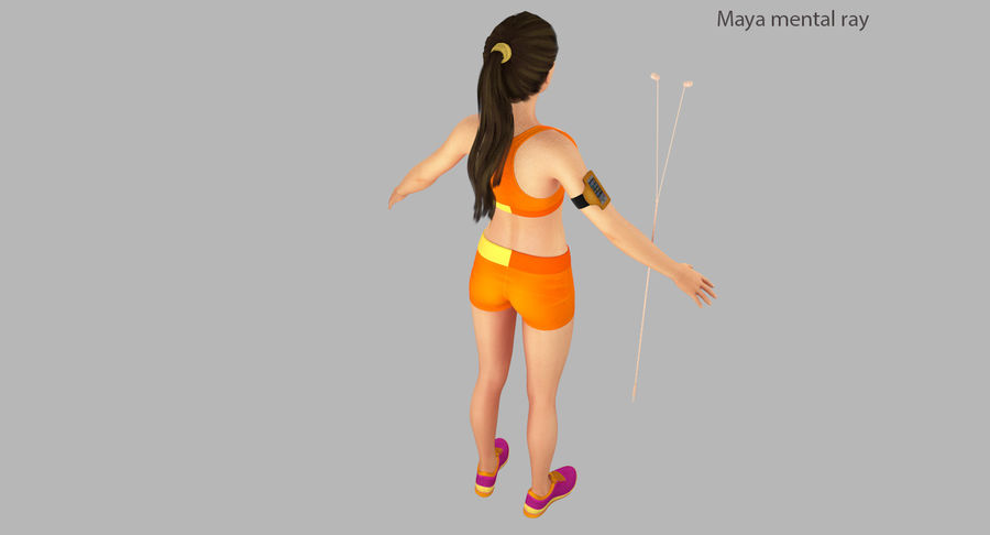 Fitness Model A2 royalty-free 3d model - Preview no. 28