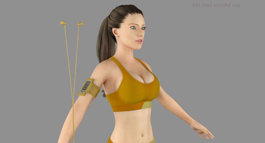 Fitness Model A2 royalty-free 3d model - Preview no. 44