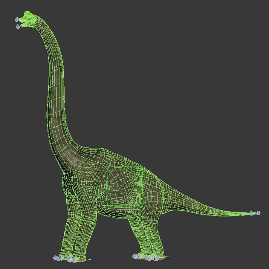 Braquiosaurio royalty-free modelo 3d - Preview no. 12