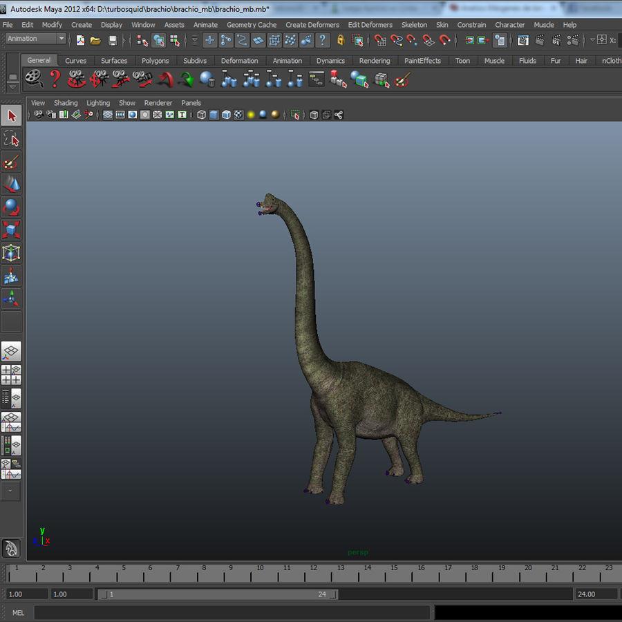 Braquiosaurio royalty-free modelo 3d - Preview no. 17