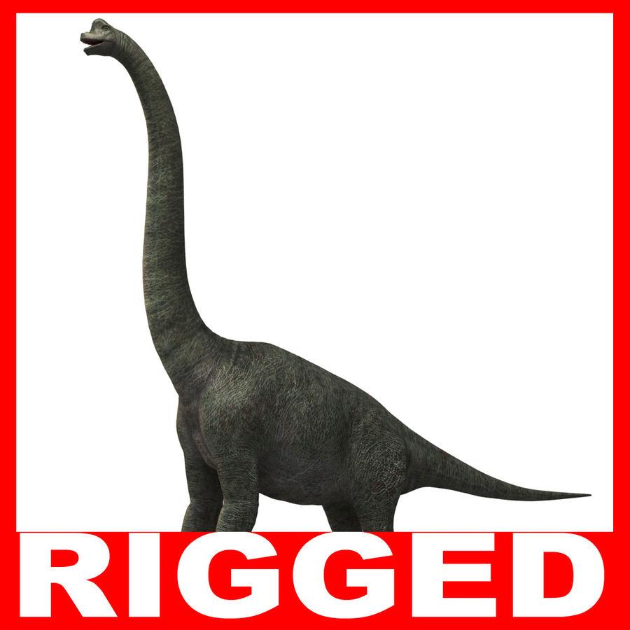 Braquiosaurio royalty-free modelo 3d - Preview no. 1