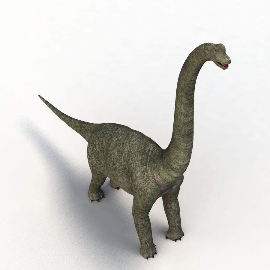 Braquiosaurio royalty-free modelo 3d - Preview no. 9