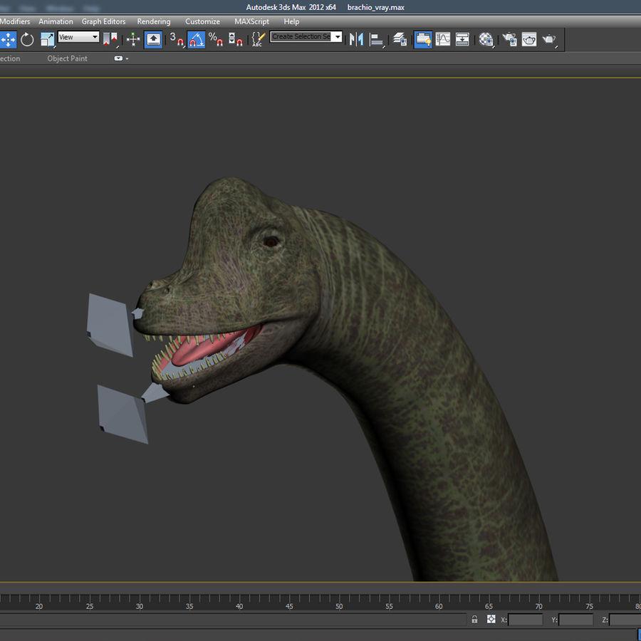 Braquiosaurio royalty-free modelo 3d - Preview no. 15