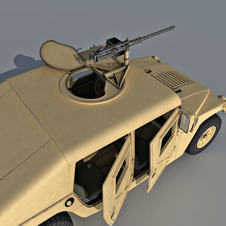 Humvee royalty-free 3d model - Preview no. 12