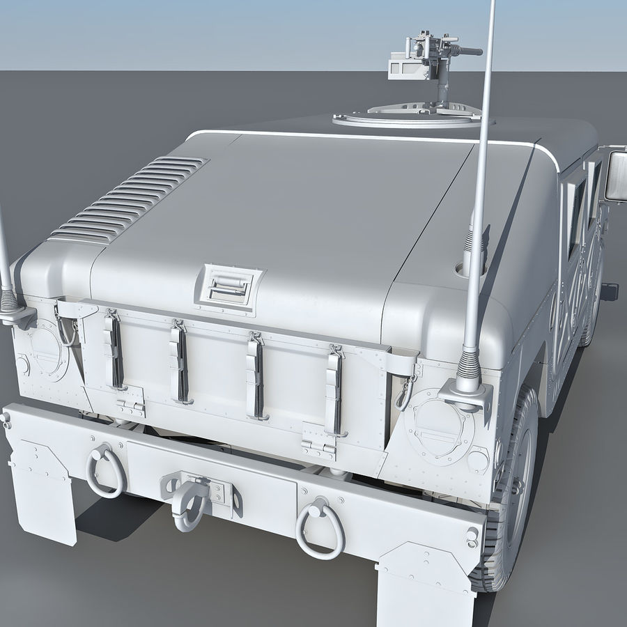 Humvee royalty-free 3d model - Preview no. 14
