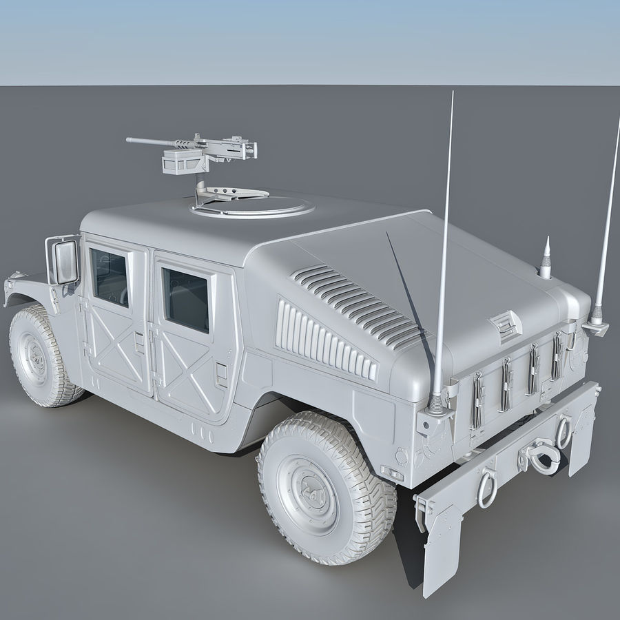 Humvee royalty-free 3d model - Preview no. 13