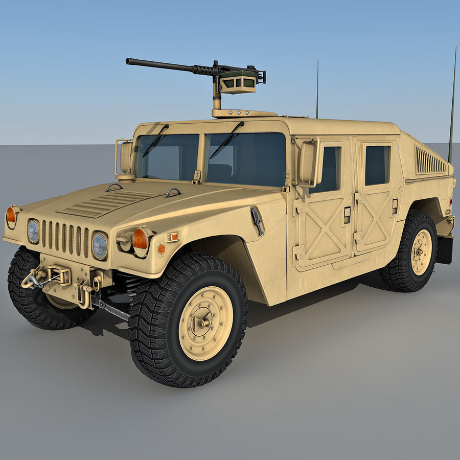 Humvee royalty-free 3d model - Preview no. 3