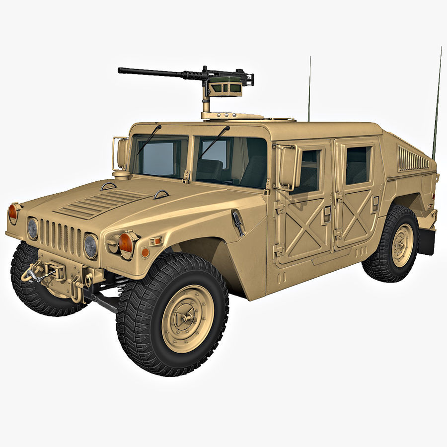 Humvee royalty-free 3d model - Preview no. 1