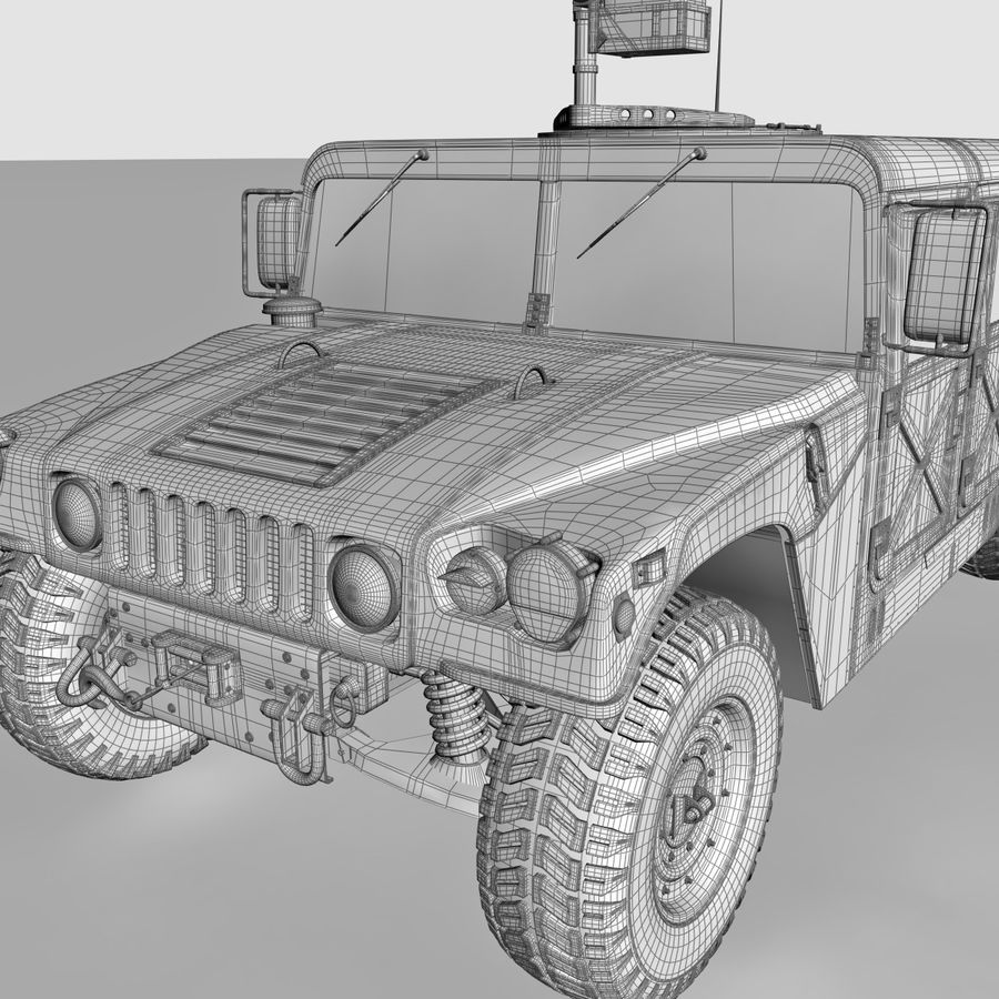 Humvee royalty-free 3d model - Preview no. 17