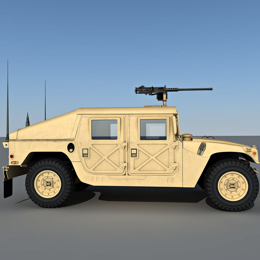 Humvee royalty-free 3d model - Preview no. 8