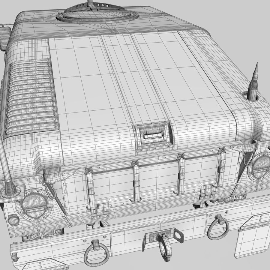 Humvee royalty-free 3d model - Preview no. 19
