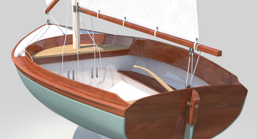 Segelboot royalty-free 3d model - Preview no. 12