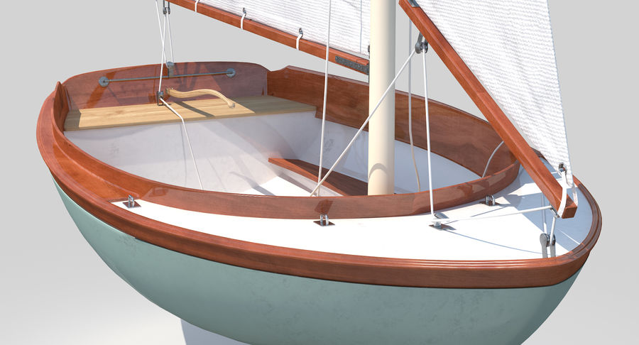 Segelboot royalty-free 3d model - Preview no. 11