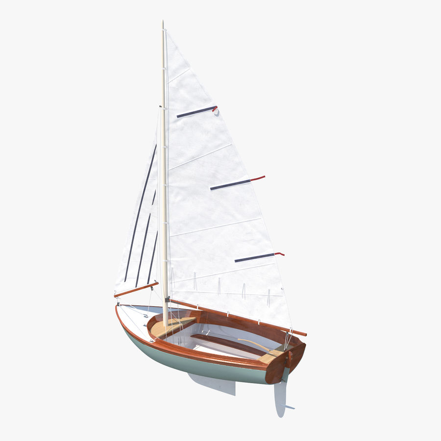 Segelboot royalty-free 3d model - Preview no. 1