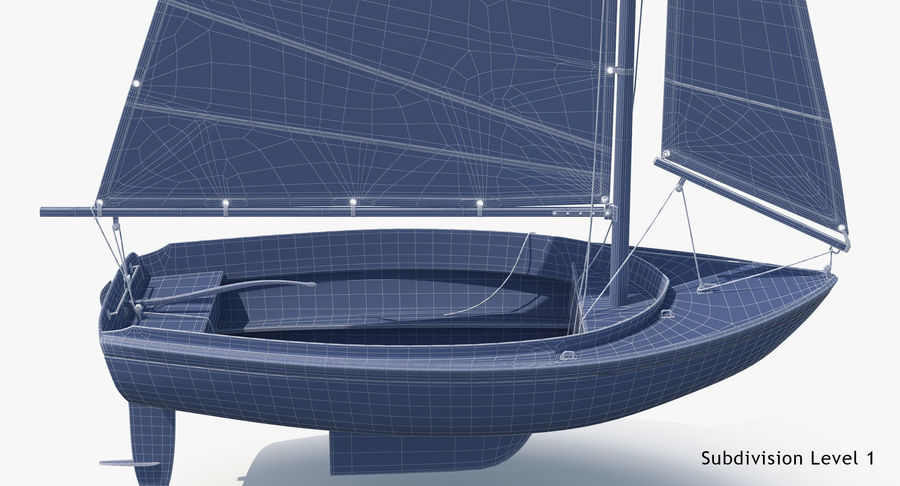 Segelboot royalty-free 3d model - Preview no. 27