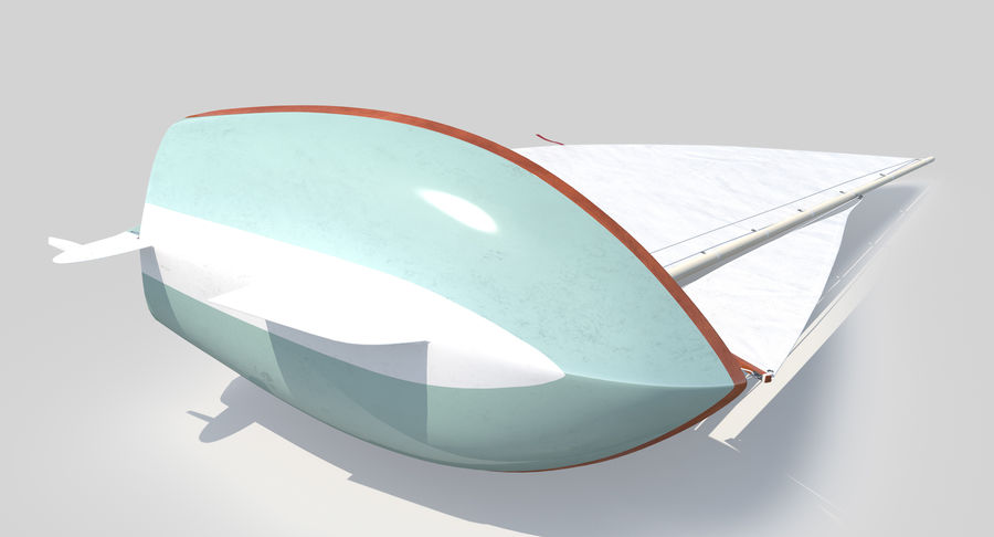 Segelboot royalty-free 3d model - Preview no. 9