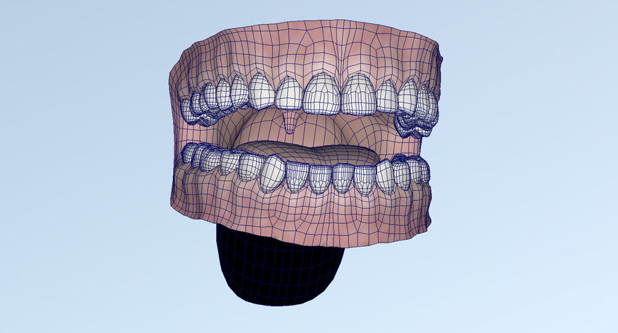 Mouth teeth gum realistic dental royalty-free 3d model - Preview no. 36