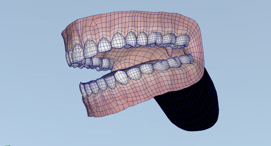Mouth teeth gum realistic dental royalty-free 3d model - Preview no. 35
