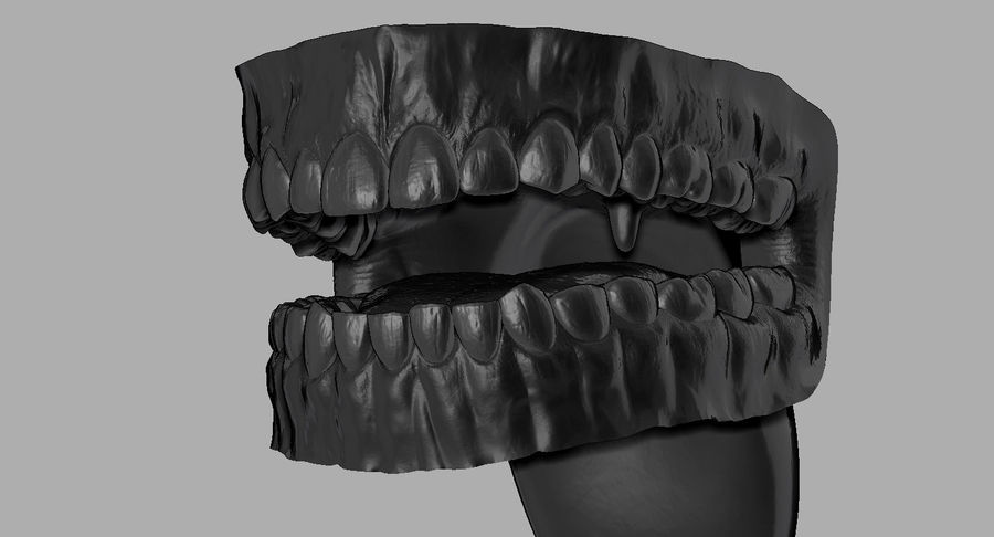 Mouth teeth gum realistic dental royalty-free 3d model - Preview no. 24