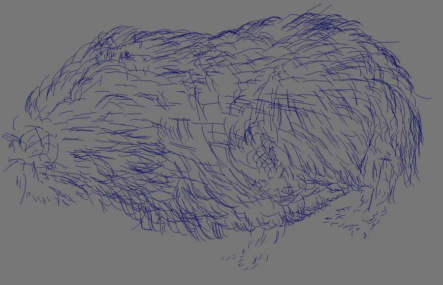 Meerschweinchen - Licht (FUR) royalty-free 3d model - Preview no. 16