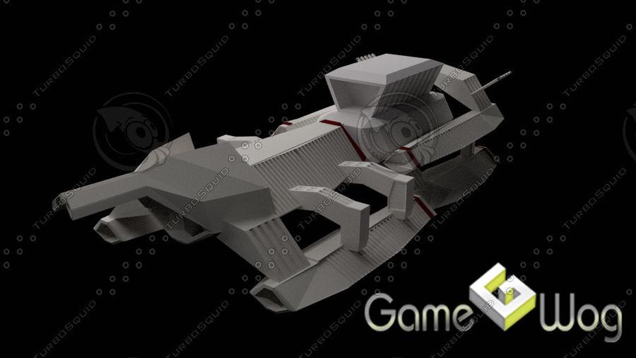 Sci-Fi Ship royalty-free 3d model - Preview no. 4