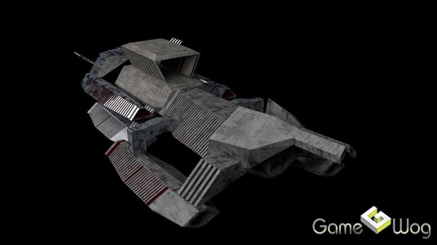 Sci-Fi Ship royalty-free 3d model - Preview no. 5