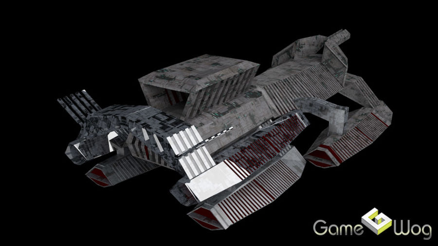 Sci-Fi Ship royalty-free 3d model - Preview no. 6