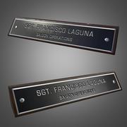 Skrivbordets namnplatta - spelklar 3d model