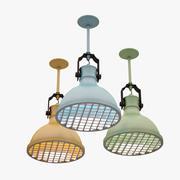 Colorful Lamp Set 3d model