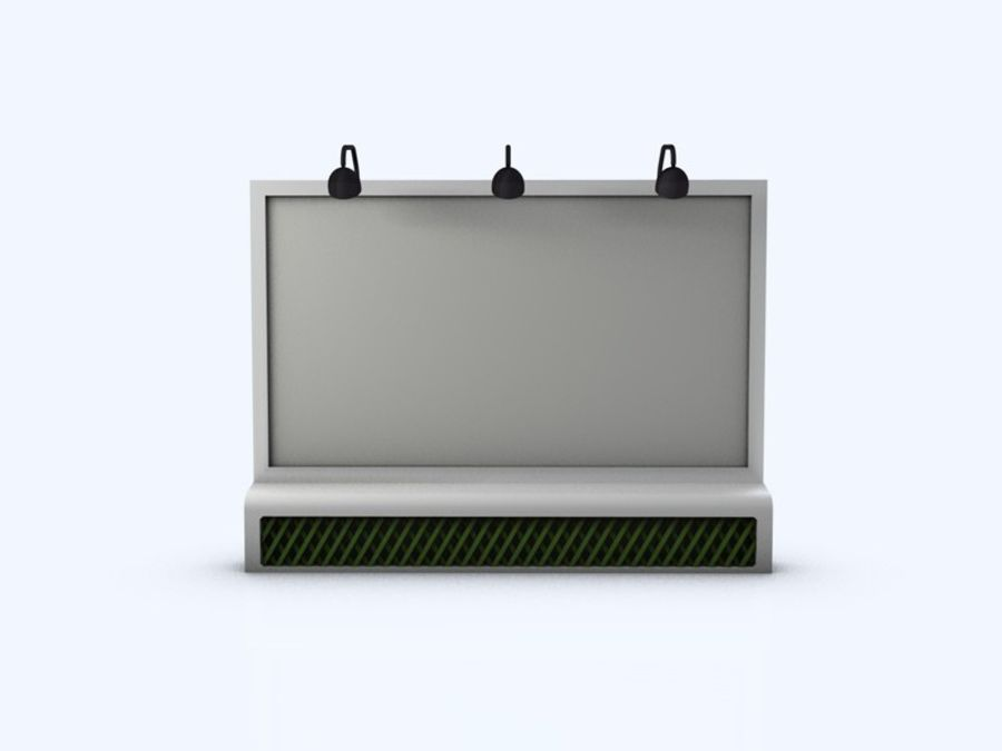 Rural Billboard royalty-free 3d model - Preview no. 2