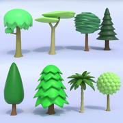 Toon Tree Pack 3d model