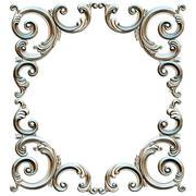 角形装饰。装饰框架 3d model