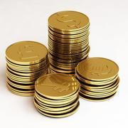 Złote monety 3d model