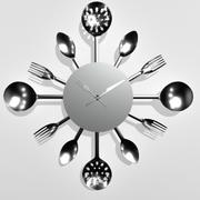 Orologio da parete con cristalli 3d model