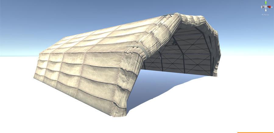 Hangar tente militaire royalty-free 3d model - Preview no. 3