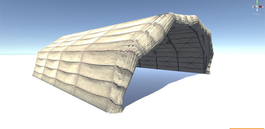 Hangar tente militaire royalty-free 3d model - Preview no. 1