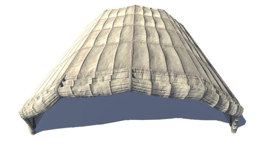 Hangar tente militaire royalty-free 3d model - Preview no. 7