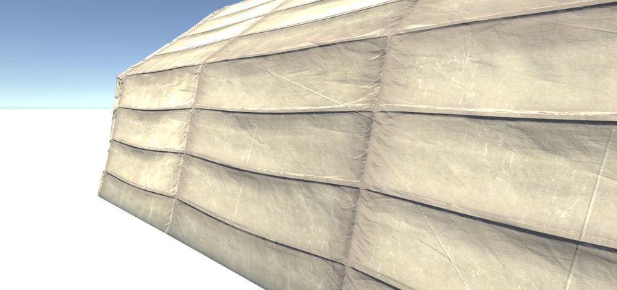Hangar tente militaire royalty-free 3d model - Preview no. 6