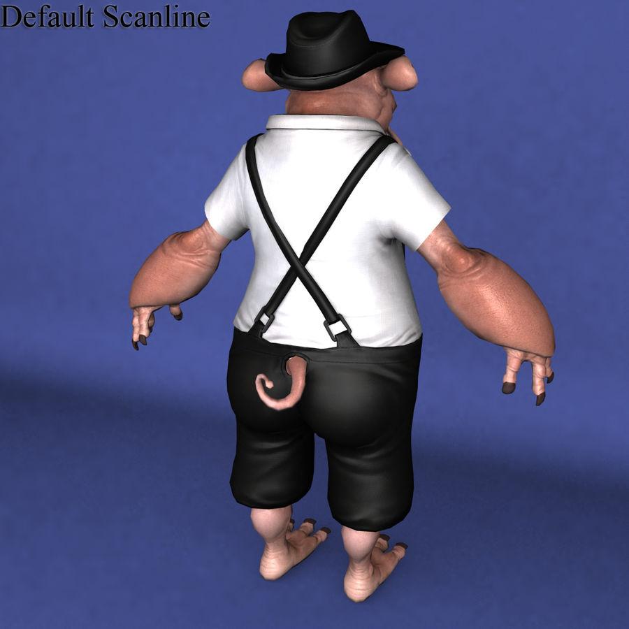 świnka royalty-free 3d model - Preview no. 13